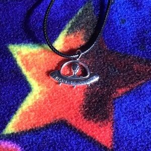 I WANT TO BELIEVE UFO charm pendant necklace